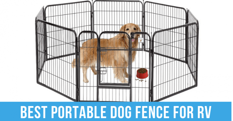portable dog fence for RV